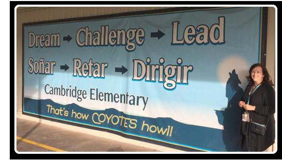 Jumbo Wall Display Banner - Cambridge Elementary School