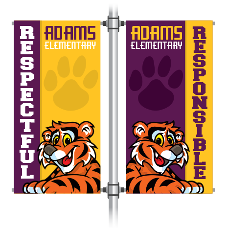 Custom PBIS Pole Banners