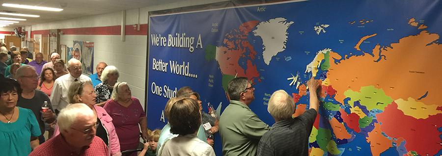 World Map Jumbo Wall Display Banner - Wyoming Elementary School