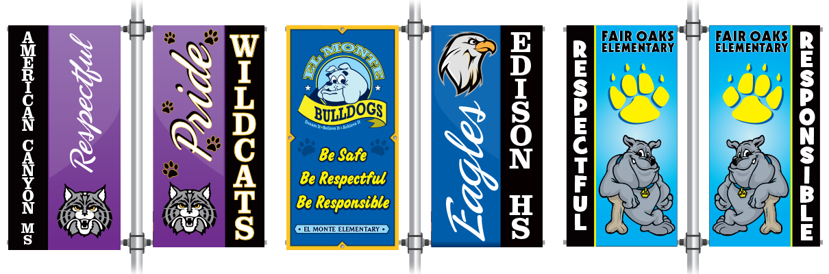 PBIS Pole Banners -  Single or Twin