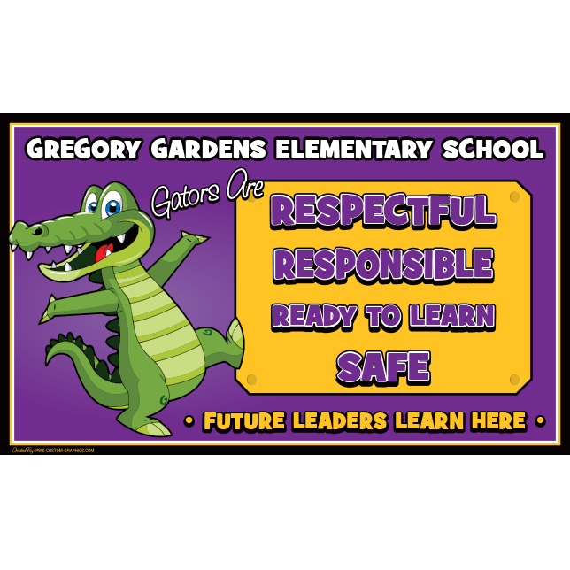Partners in learning inc pbis custom school graphics for Gregory gardens elementary school