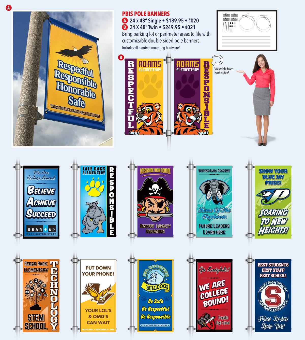 Custom PBIS Pole Banners